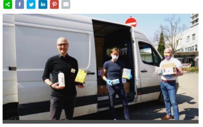 Marabu doa desinfetantes fabricados internamente para hospitais regionais